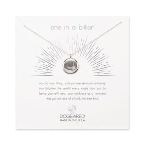 "Dogeared ""One in a Billion"" necklace"